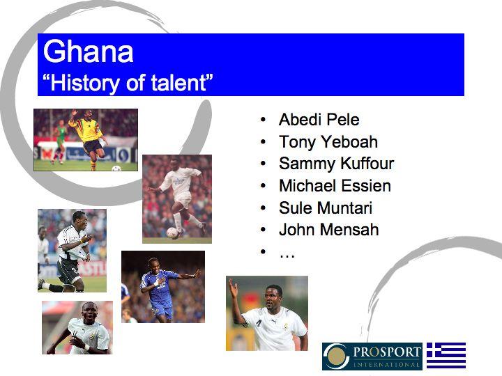 Ghana, history of talent
