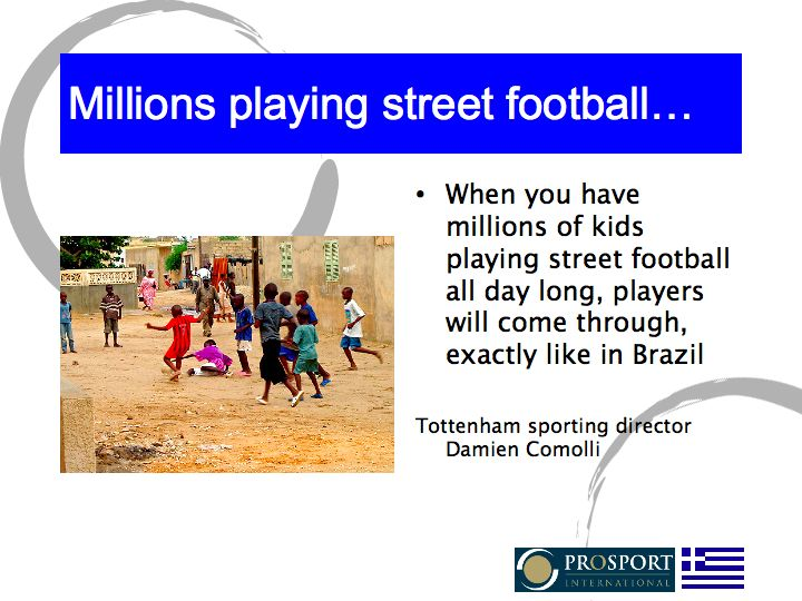 Millions playing street football