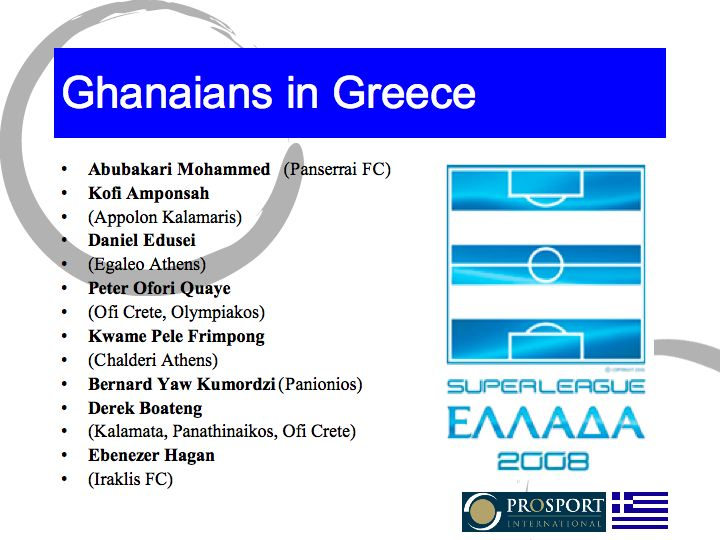 Ghanaians in Greece