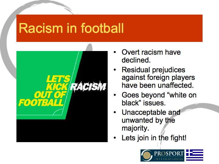 Kick racism out