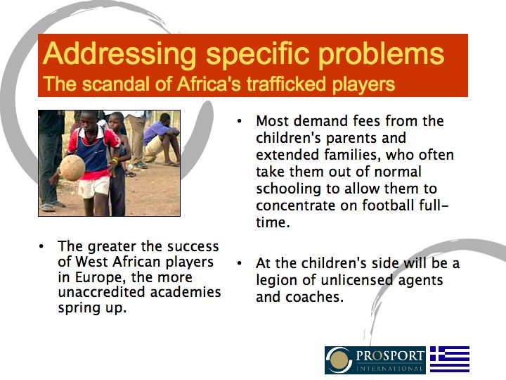 Trafficking of players