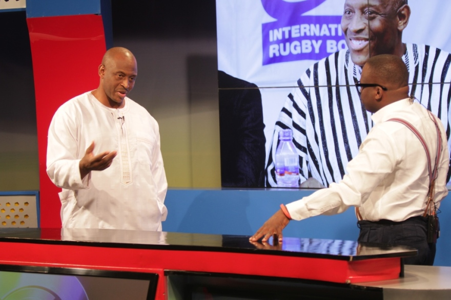 Mr. Herbert Mensah in a discussion on issues about Ghana with Paul Adom Otchere